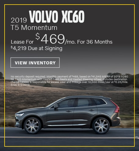 August 2019 XC60 Lease Offer