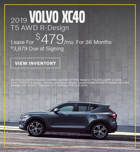 August 2019 XC40 Lease Offer