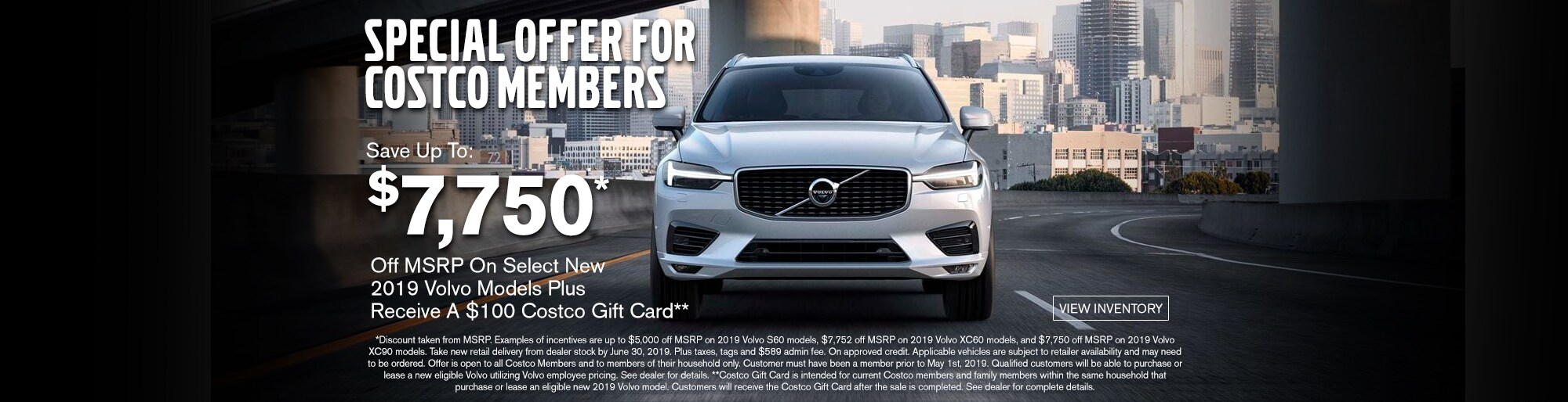 Costco Members Offer Volvo Cars Burlington