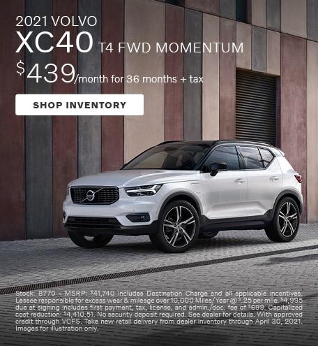 2021 VOLVO XC40 T4 FWD MOMENTUM