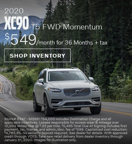 2020 Volvo XC90 Offer - January