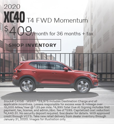 2020 Volvo XC40 Offer - January