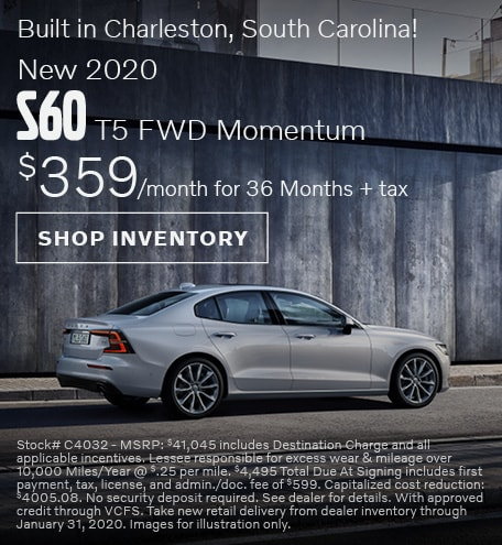 2020 Volvo S60 Offer - January