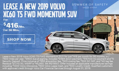 Lease a New 2019 Volvo XC60 T5 FWD Momentum SUV