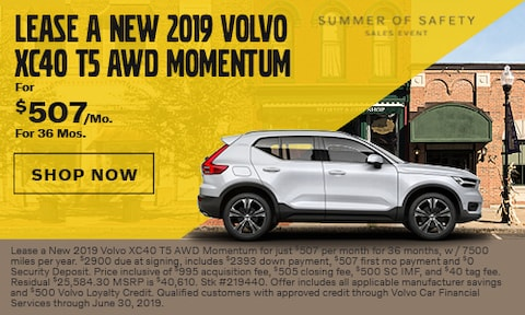 Lease a New 2019 Volvo XC40 T5 AWD Momentum