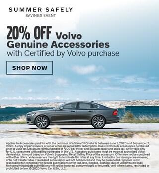 20% off Volvo Genuine Accessories with CPO Purchase