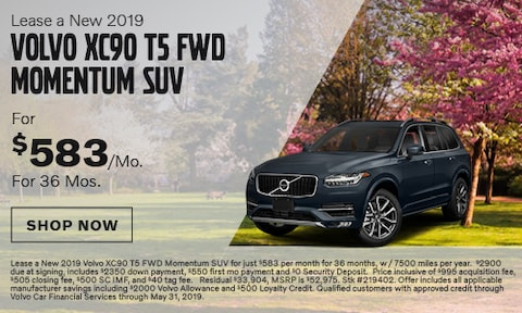 Lease a New 2019 Volvo XC90 T5 FWD Momentum SUV