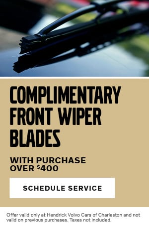 Complimentary Front Wiper Blades