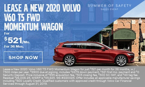 Lease a New 2020 Volvo V60 T5 FWD Momentum Wagon