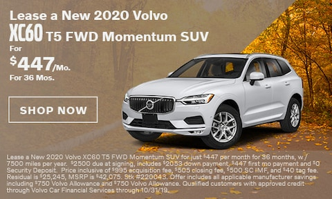 Lease a New 2020 Volvo XC60 T5 FWD Momentum SUV