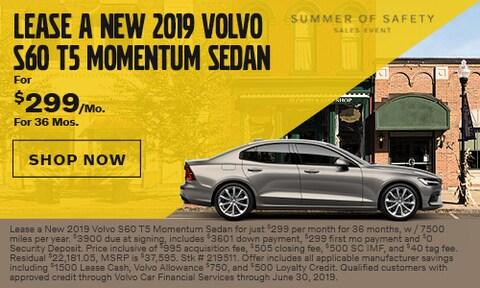 Lease a New 2019 Volvo S60 T5 Momentum Sedan