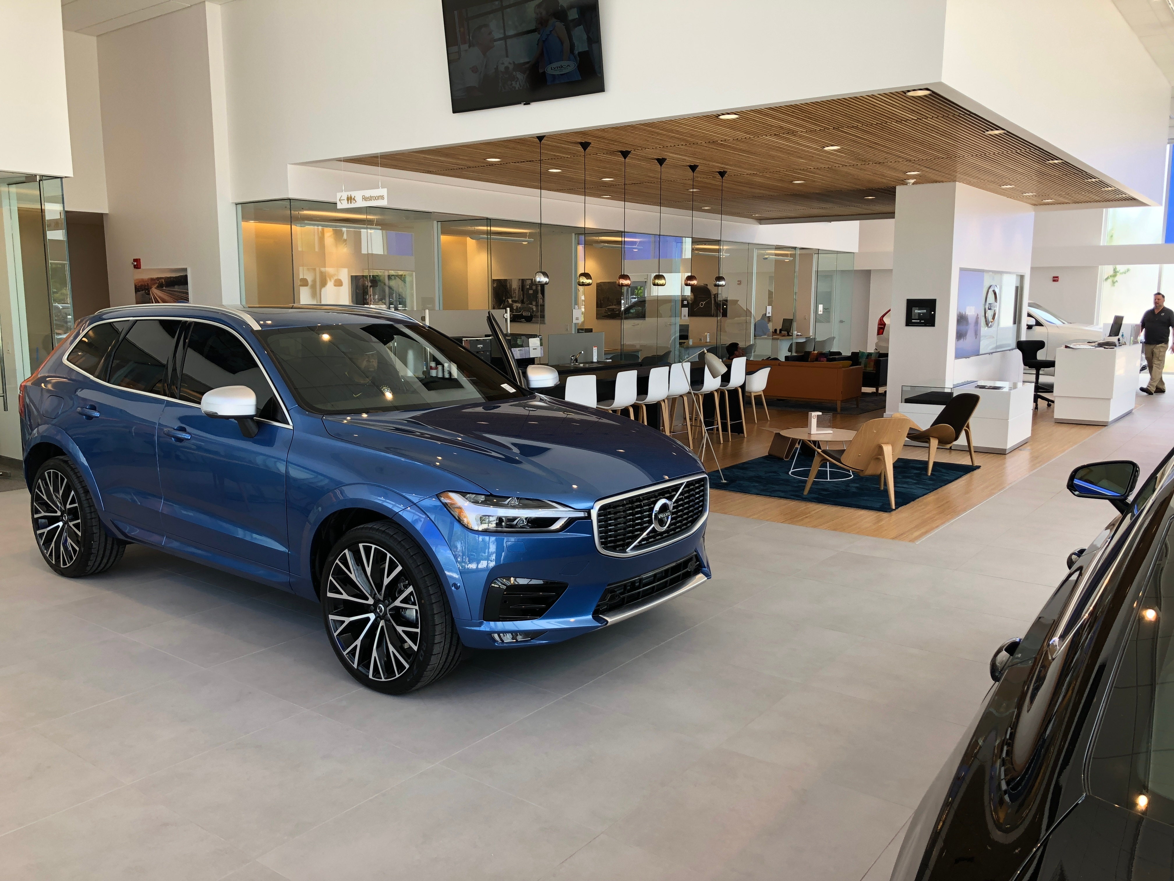 inside the dealership showroom of gunther volvo cars coconut creek