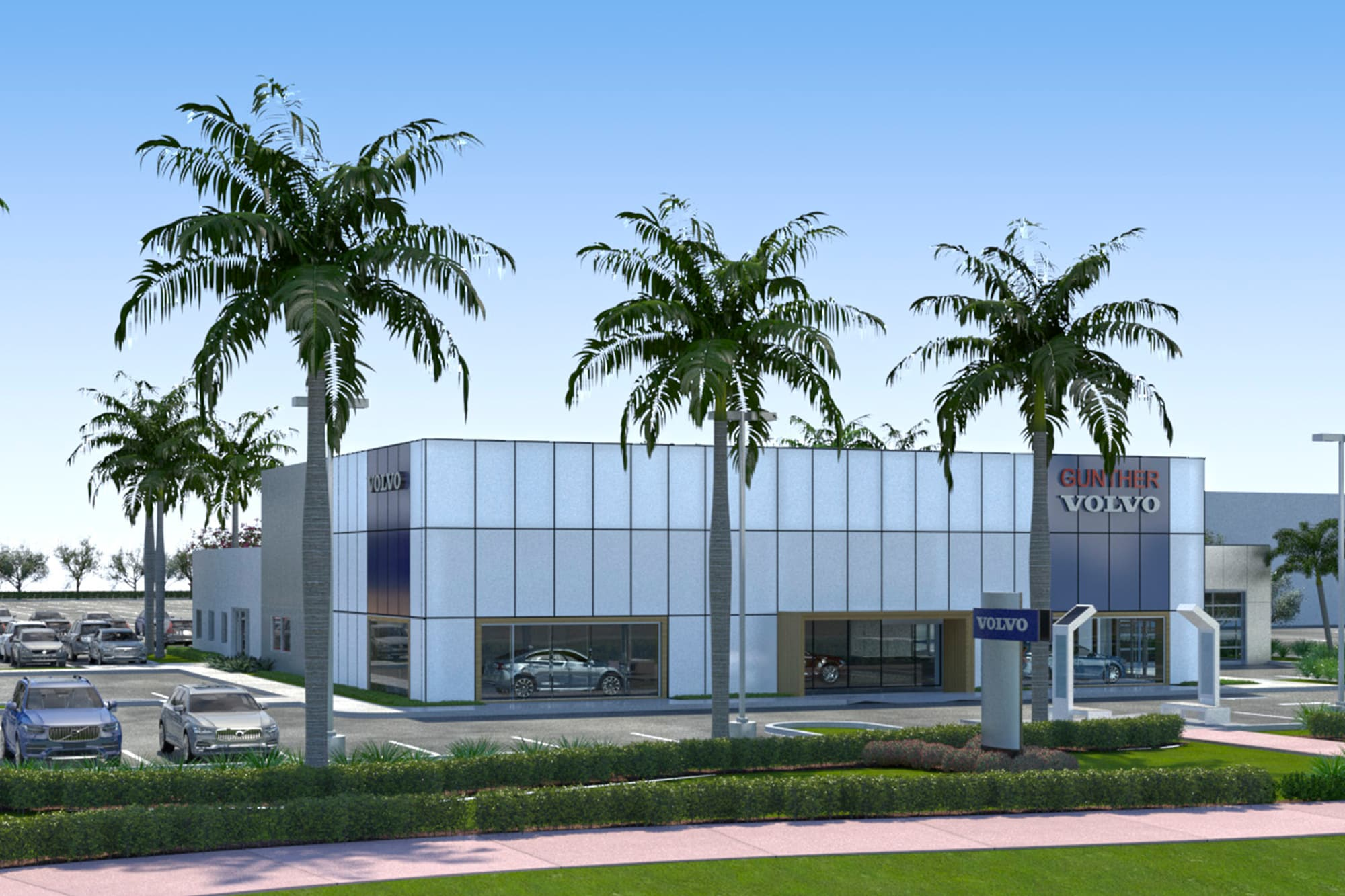 store front of gunther volvo cars coconut creek