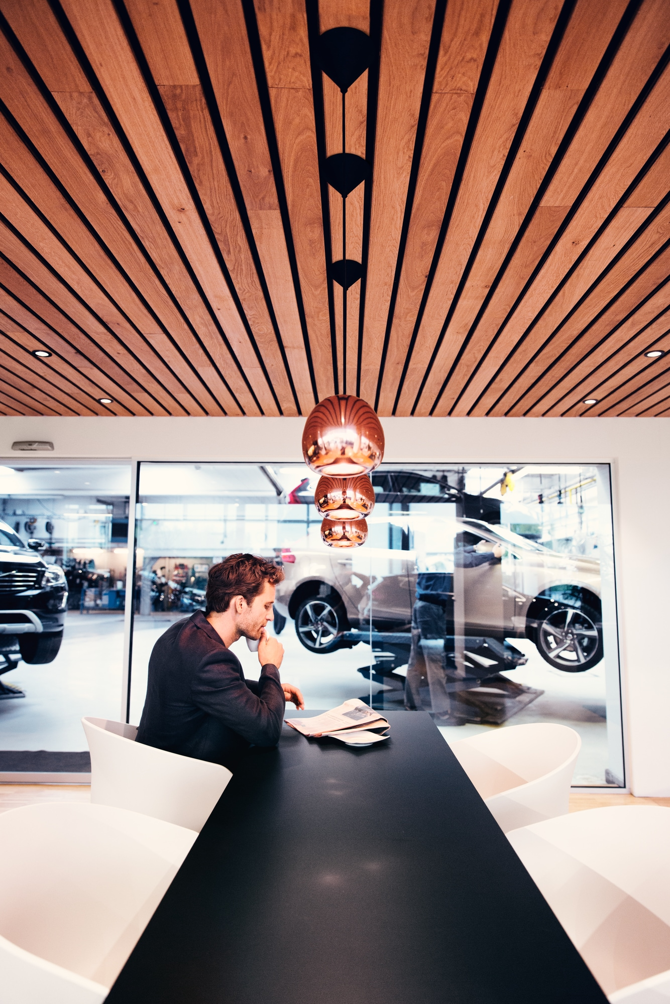 inside the service department at gunther volvo cars coconut creek