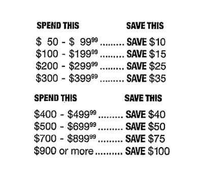 Super Savers Bonus Coupon