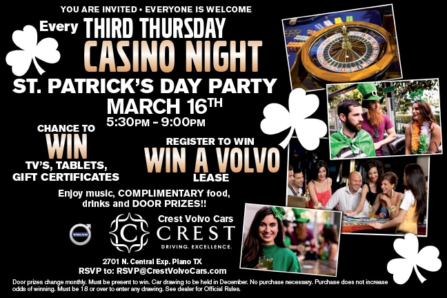 Crest Volvo Cars Casino Night March 2017