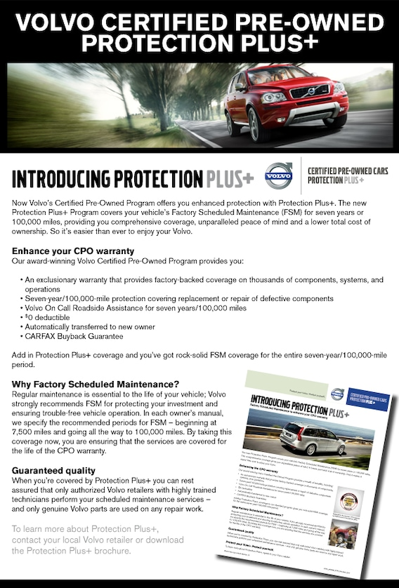 CPO Protection Plus for Volvo Certified Vehicles