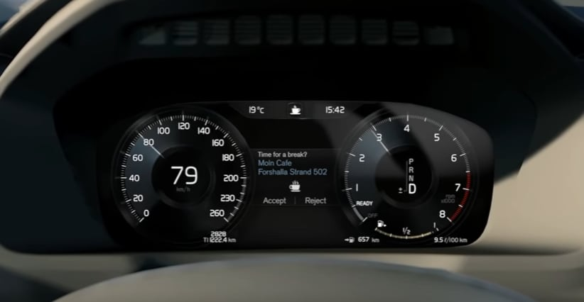 Volvo Driver Alert Control safety feature