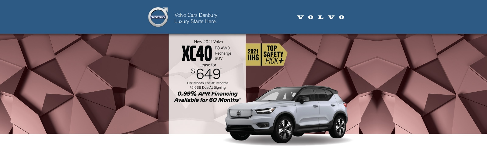 Volvo XC40 lease deal image