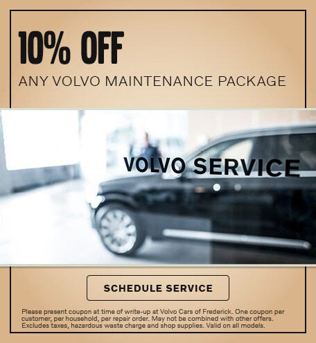 10% OFF ANY VOLVO MAINTENANCE PACKAGE