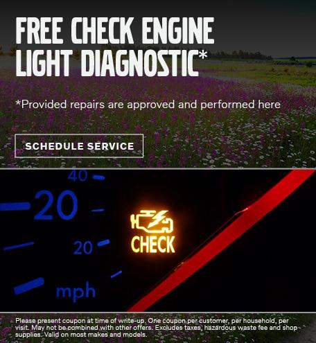 FREE CHECK ENGINE LIGHT DIAGNOSTIC*