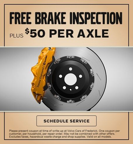 FREE BRAKE INSPECTION PLUS $50 PER AXLE