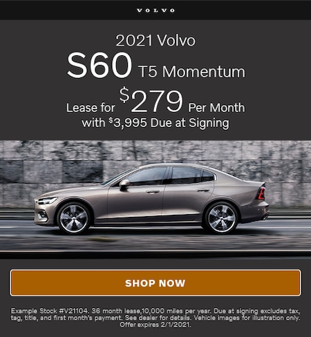 January Offer- 2021 Volvo S60 T5 Momentum