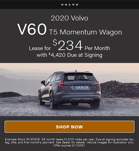 January Offer- 2020 Volvo V60 T5 Momentum Wagon