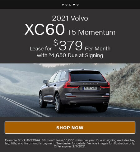 January Offer- 2021 Volvo XC60 T5 Momentum