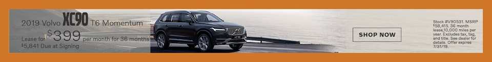 2019 Volvo XC90 - July Offer