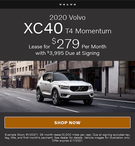 January Offer- 2020 Volvo XC40 T4 Momentum