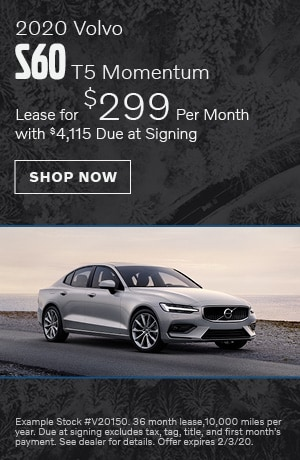 2020 Volvo S60 T5 Momentum - January Offer