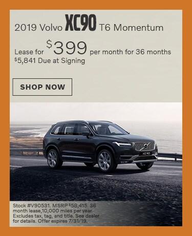 2019 Volvo XC90 - July Offer