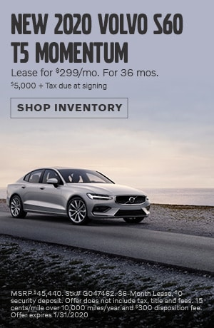 January New 2020 Volvo S60 T5 Momentum Lease Offer