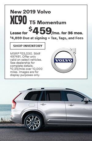 September New 2019 Volvo XC90 T5 Momentum Lease Offer