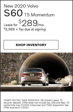 January New 2020 Volvo S60 T5 Momentum Offer