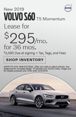 November New 2019 Volvo S60 T5 Momentum Lease Offer