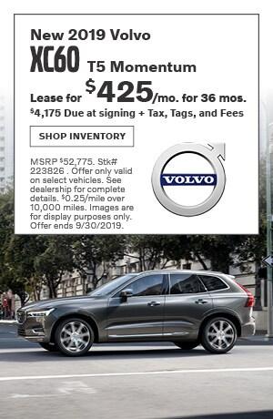 September New 2019 Volvo XC60 T5 Momentum Lease Offer