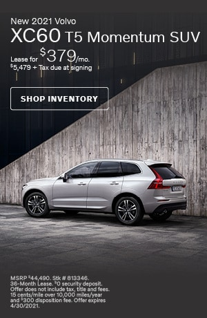 April New 2021 Volvo XC60 T5 Momentum SUV Offer