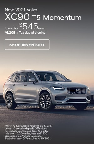 April New 2021 Volvo XC90 T5 Momentum Offer
