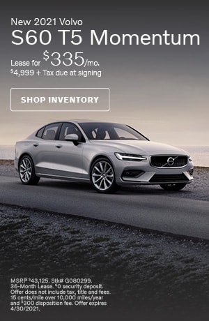 April New 2021 Volvo S60 T5 Momentum Offer