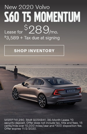 October New 2020 Volvo S60 T5 Momentum Offer