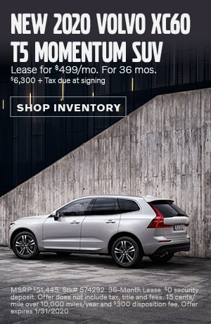 January New 2020 Volvo XC60 T5 Momentum SUV Lease Offer