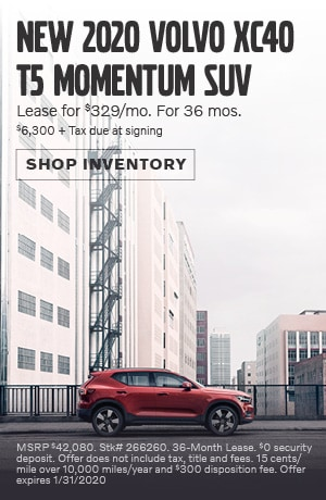 January New 2020 Volvo XC40 T5 Momentum SUV Lease Offer