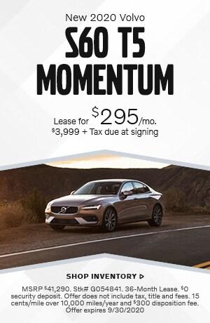September New 2020 Volvo S60 T5 Momentum