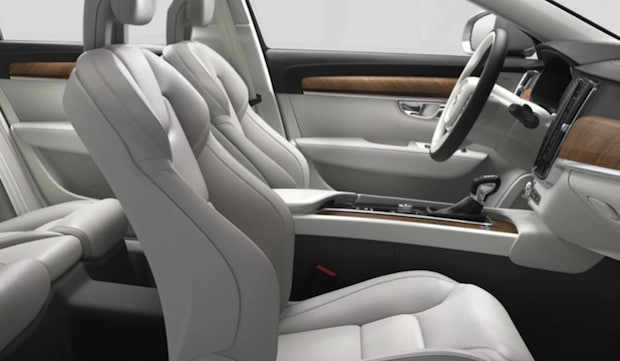 Interior space in the 2018 Volvo S90