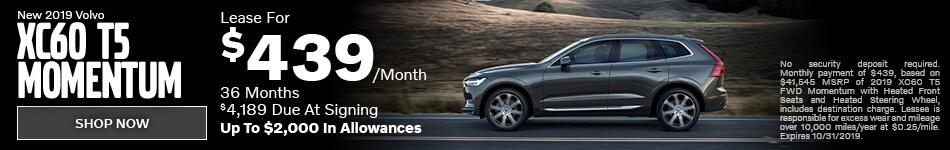 New 2019 Volvo XC60 T5 Momentum