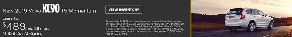New 2019 Volvo XC90 T5 Momentum