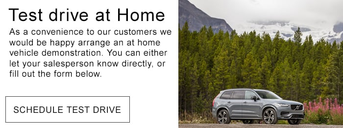 Schedule a Test Drive at Home