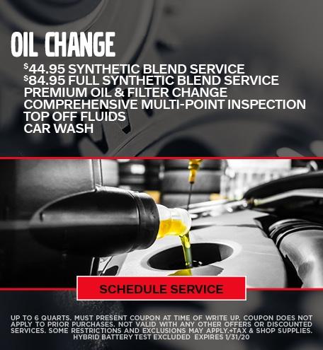Jan Oil Change Special